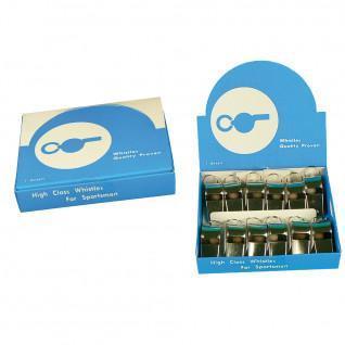 Caja de 12 silbatos de acero Sporti France