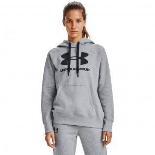 Sudadera con capucha para mujer Under Armour con logotipo Rival Fleece