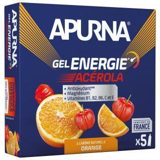 Lote de 5 geles Apurna Energy Acerola Orange - 35g