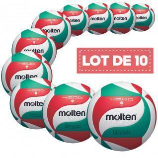 Juego de 10 balones de competición Molten V5M4500
