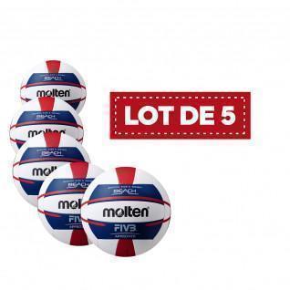 Lote de 5 pelotas de voleibol de playa Molten para mujer V5b5000