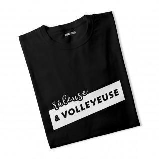Camiseta mujer Gruñona y jugadora de voleibol